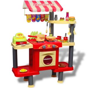 vidaxl cuisine jouet grande pour enfants pas cher achat vente cuisine et m nage. Black Bedroom Furniture Sets. Home Design Ideas