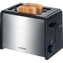 Cloer - Toaster Inox 2 Tranches Contour Noir