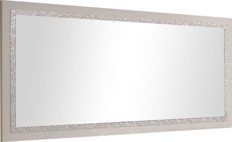 Comforium Miroir 180cm blanc laqué avec décor galet