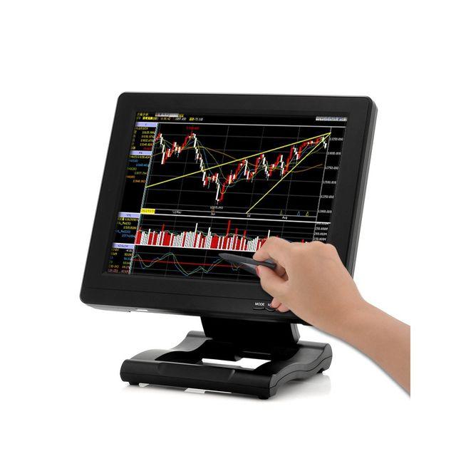 Auto-hightech Moniteur écran tactile Lcd 12.1 pouces Hdmi Av Vga Dvi