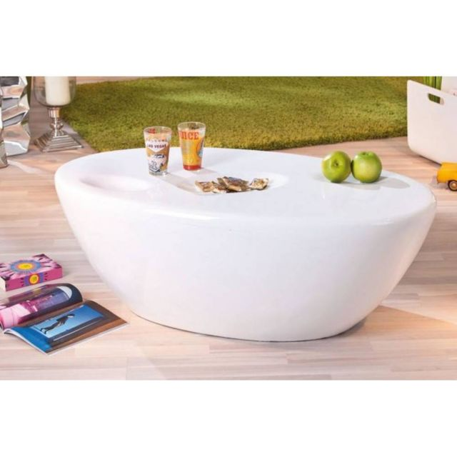 Inside 75 Table basse design Galaxy blanche