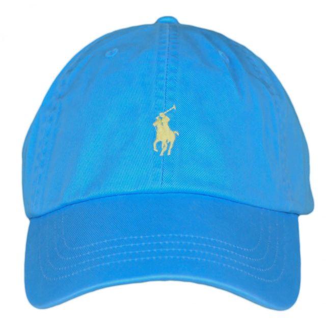 Ralph Lauren - Casquette bleu turquoise logo jaune mixte - pas cher ... ef94e59fede