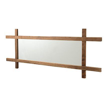 Miroir rectangulaire Appoline - teck foncé