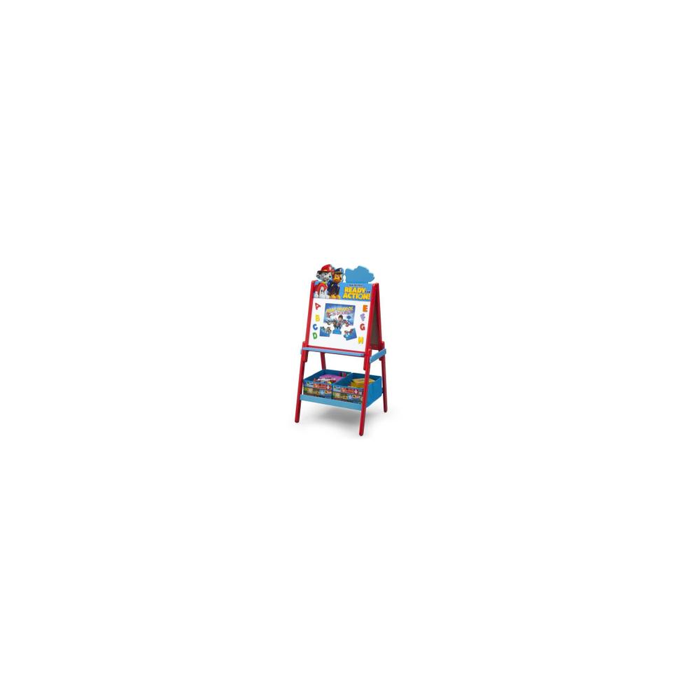 Delta Children - Pat Patrouille Tableau enfant chevalet double face en bois avec rangement