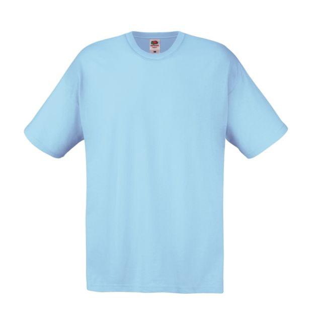 FRUIT OF THE LOOM Screen Stars - T-shirt à manches courtes - Homme 3XL, Bleu ciel Utpc124