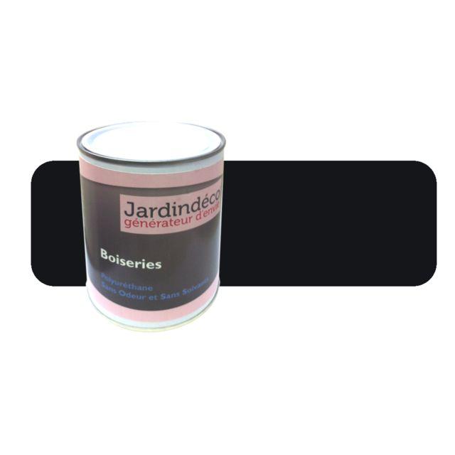 BOUCHARD PEINTURES - Peinture noir foncé pour meuble en bois brut 1 litre