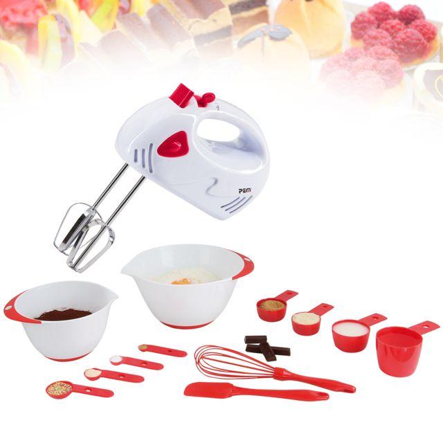 Kitchen Artist Set 12 accessoires pâtisserie + Batteur électrique 120W