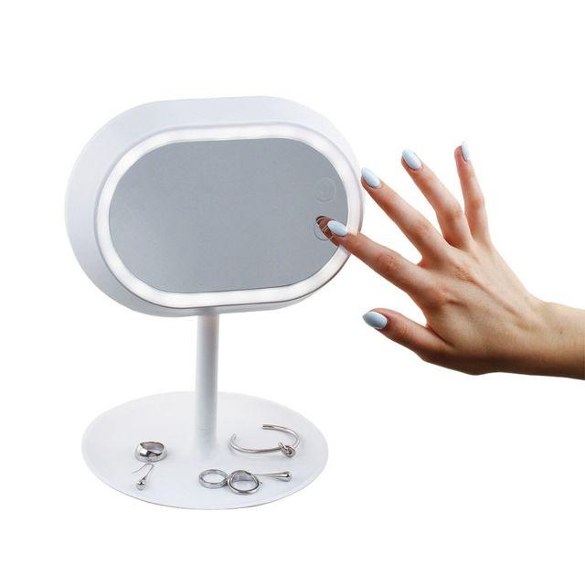 DOMOCLIP Miroir lampe tactile sur pied DOS159