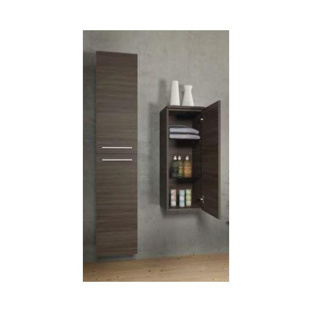 Riho Armoire de douche à 1 porte gauche Bellizzi en bois laqué brillant 35x32x93,2 cm