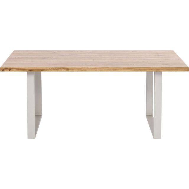 Karedesign Table Jackie chêne argent 200x100cm Kare Design