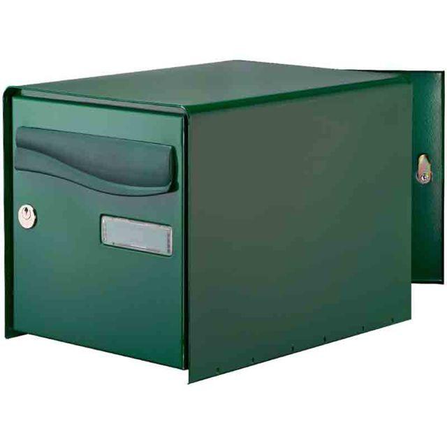 decayeux bo te aux lettres ouverture totale r box lys double face verte pas cher achat. Black Bedroom Furniture Sets. Home Design Ideas