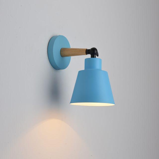Abat jour mural Tête pivotante Applique lumière Chambre Éclairage Lampe de lecture de chevet