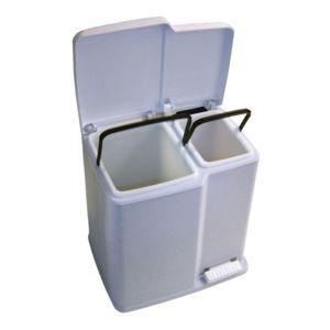 curver poubelle de cuisine avec 2 compartiments pour tri s lectif 15l et 7l luna pas cher. Black Bedroom Furniture Sets. Home Design Ideas