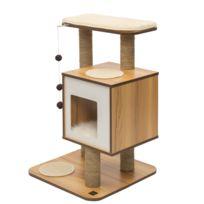 soldes arbre chat bois achat arbre chat bois pas cher rueducommerce. Black Bedroom Furniture Sets. Home Design Ideas