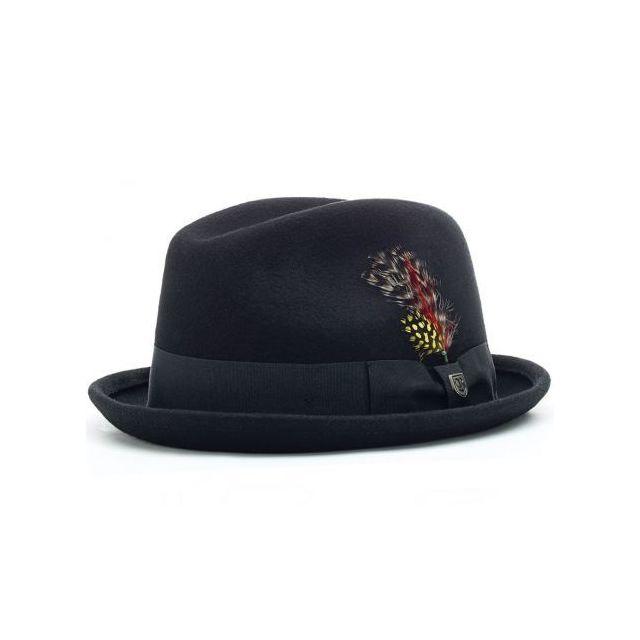 26244c151d06 Brixton - Chapeau Gain Fedora Noir Plume - pas cher Achat   Vente ...
