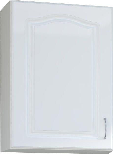 Comforium Meuble haut de cuisine style contemporain 60 cm avec 1 porte coloris blanc