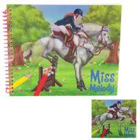 Miss Melody - Album Coloriage 15 x 18 cm : Thème Cheval Couverture lenticulaire