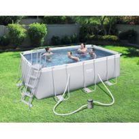 Kit piscine tubulaire rectangulaire Power Steel - L 412 x l 201 x H 122 cm