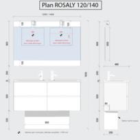 Meuble 2 vasque salle bain 120 cm - catalogue 2019/2020 ...