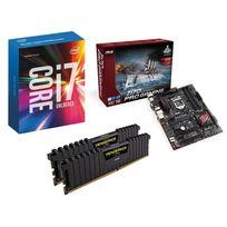 RUE DU COMMERCE - Kit EVO INTEL Pro Gaming OC A-II - INTEL Core i7-6700K - ASUS Z170 Pro Gaming - 16 Go DDR4 CORSAIR