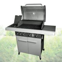 Wilsa - Barbecue à gaz 4 feux avec table de cuisson