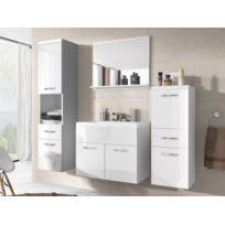 Shower Design - Ensemble Claudia - meubles de salle de bain - laqué blanc