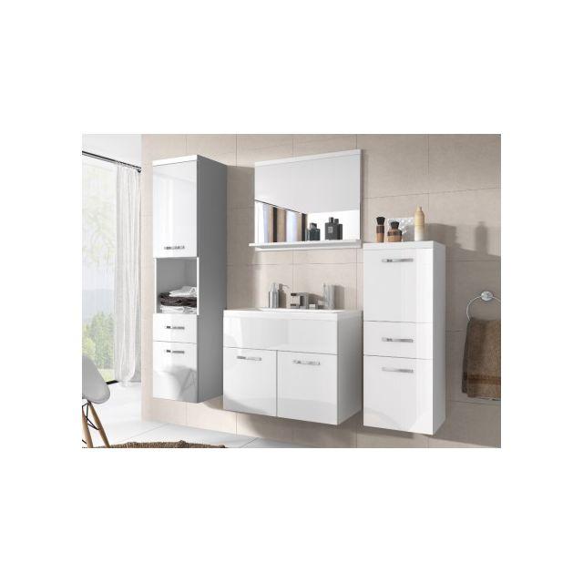 SHOWER DESIGN Ensemble CLAUDIA - meubles de salle de bain - laqué blanc