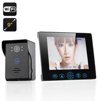 Auto-hightech - Interphone visiophone sans fil écran Lcd 9 pouces Détecteur de mouvement 16 Mélodies