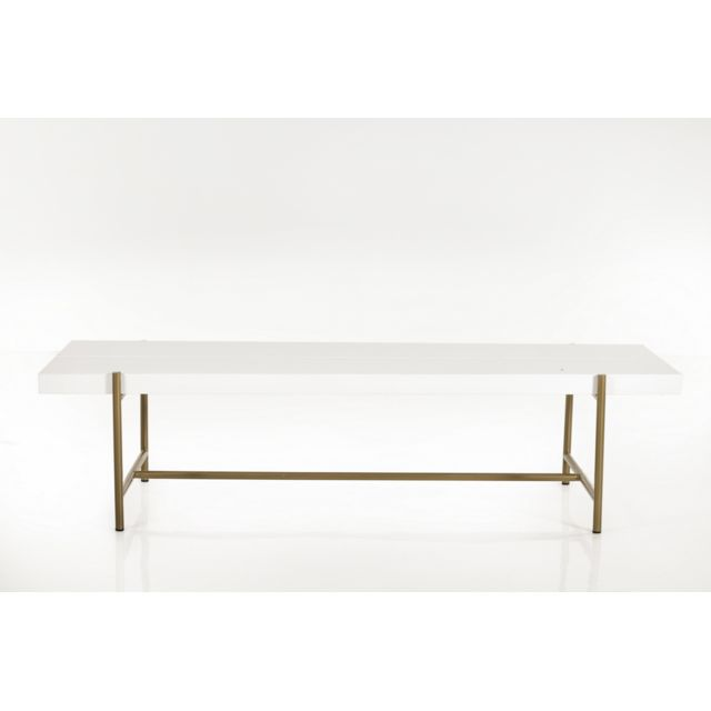 HELLIN TABLE BASSE MODERNE EN BOIS ET METAL - BRIGHTON