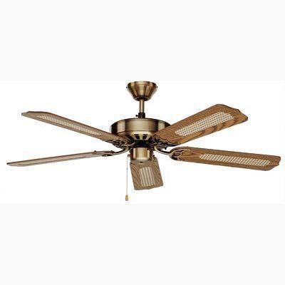 boutica design ventilateur de plafond royal classic 132cm laiton ch ne casafan pas cher. Black Bedroom Furniture Sets. Home Design Ideas