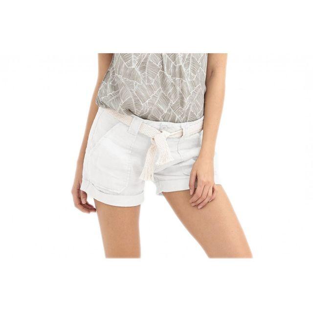 58d98ce9fbfc60 Short Femme Biss Blanc - Taille - 32