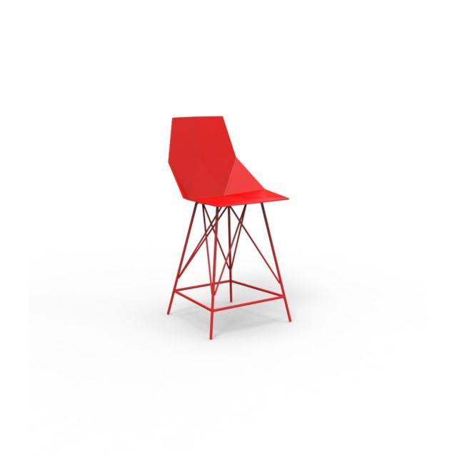 VONDOM Tabouret de bar FAZ - Hauteur 102 cm - rouge