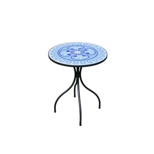 Table Mosaique Pas Cher.Hevea Table Mosaique Berna60 Ronde 60o Hev31397 Pas Cher