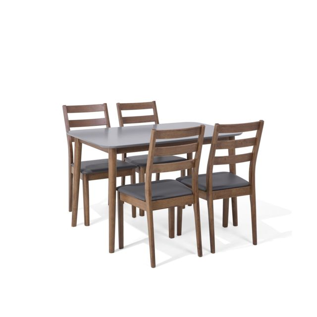 BELIANI Ensemble de table et 4 chaises 118 x 77 cm MODESTO