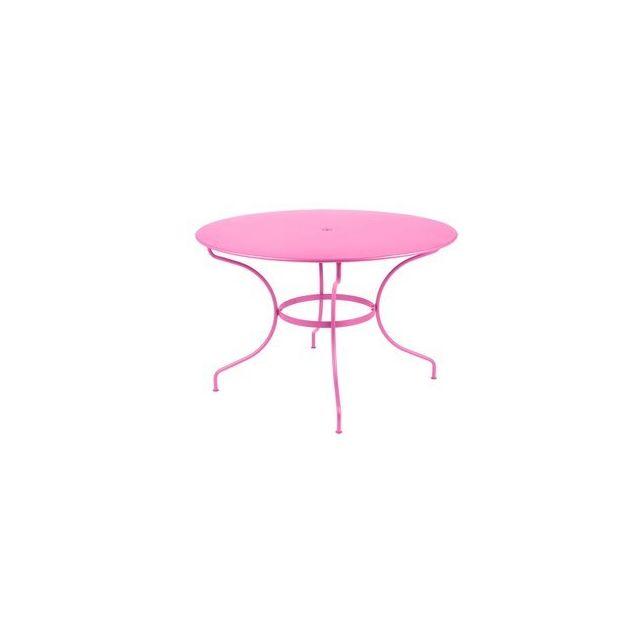 Fermob - Table de jardin ronde Acier 117cm Opera - pas cher Achat ...