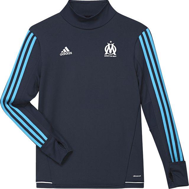 Adidas performance - Sweat Om Olympique de marseille Training Top Y Marine  - 15 - pas cher Achat   Vente Pull enfant - RueDuCommerce 0de29160c25b