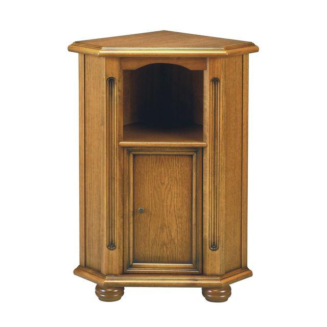 Meuble d'angle1 niche 1 porte en bois massif