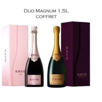 Champagne Krug - Lot de 2 Magnum Krug Grande Cuvée et Rosé - Sous Coffret