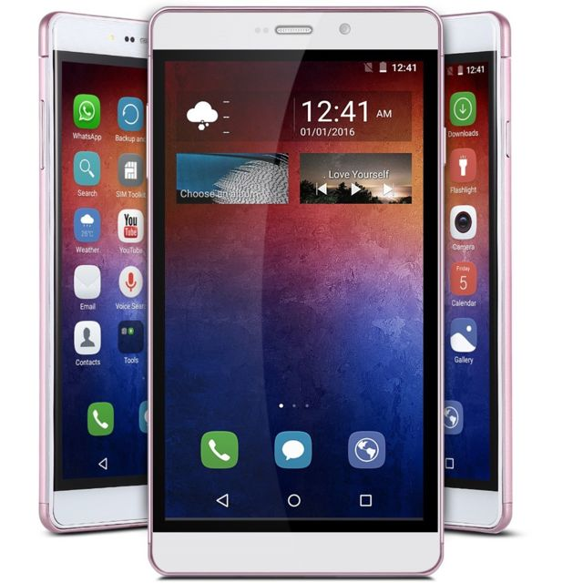 Auto-hightech Smartphone 6.0 pouces, Android 5.1, 3G, Gps, Wifi - Rose