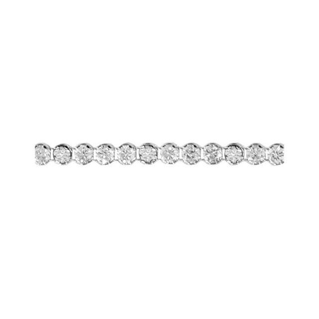 Sochicbijoux So Chic Bijoux © Bracelet Longueur Réglable: 16 à 19 cm Chaîne Tennis Oxyde de Zirconium Blanc Argent 925