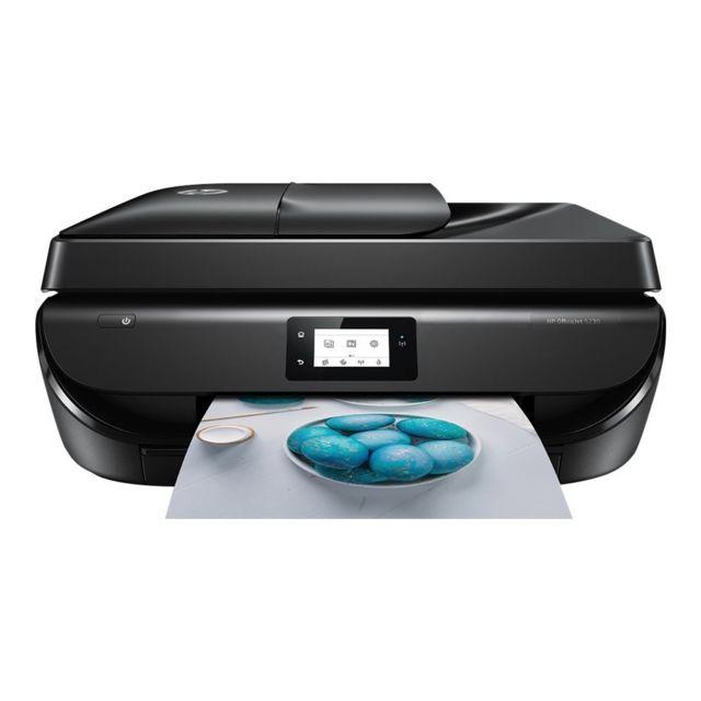hp imprimante tout en un officejet 5230 m2u82b bhc noir pas cher achat vente. Black Bedroom Furniture Sets. Home Design Ideas