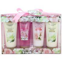 Gloss - Coffret de Bain Garden Dreams - Rose, Lys & Freesia, Jasmin & Magnolia - 4 pièces
