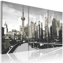 Artgeist - Tableau   Shanghai gris   120x80   Villes   Villes du monde