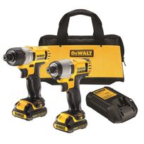 Dewalt - Dck210S2 Lot outils s. fil 10,8V Visseuse Dcf610 Visseuse à chocs Dcf815