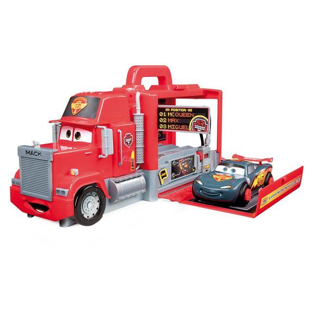 Disney cars camion mack transformable avec une voiture flash mcqueen carbone 360135 pas - Cars camion mack ...