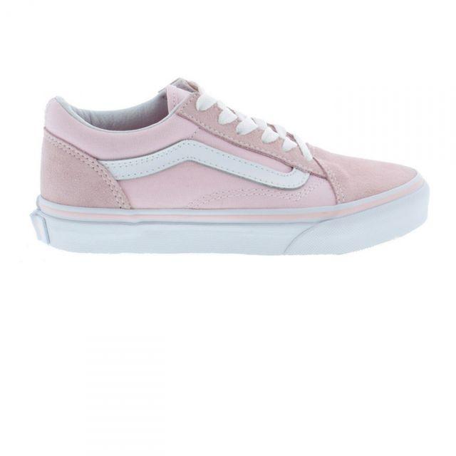 Vans Chaussures Enfant Old Skool Pink Lace Jr pas cher