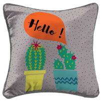 Cdaffaires housse de coussin +encart 40 x 40 cm polyester imprime cactus