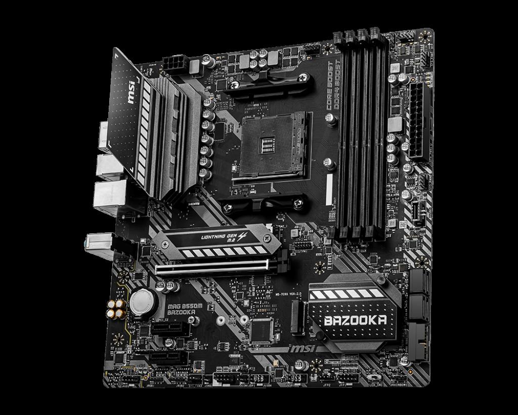 Carte mère Micro ATX AMD MAG B550 Bazooka MSI