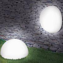 ProBache - Lampe demi-boule 20 cm 4 leds solaires X2