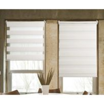 - Store jour/nuit Tissu 100% polyester blanc 40x100cm